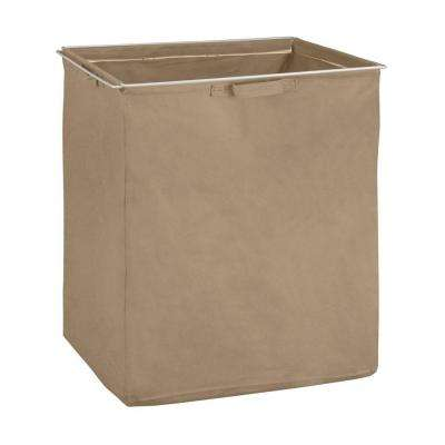 ShelfTrack Mocha Fabric Hamper with Frame