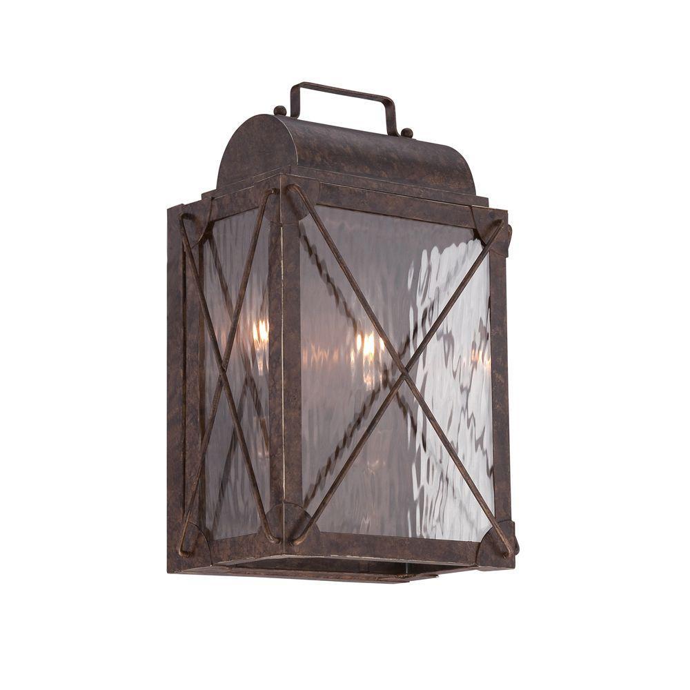 Colfax 2-Light Etruscan Bronze Wall Lantern