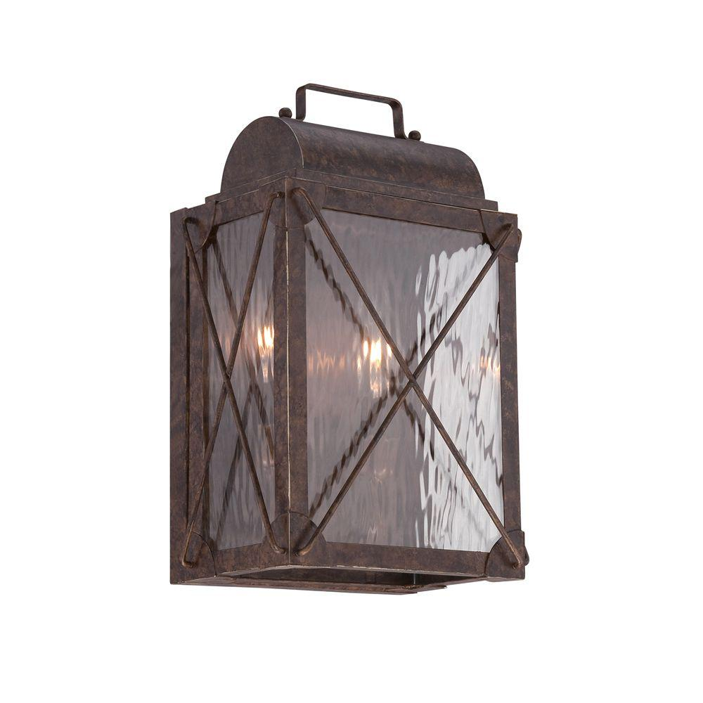 Designers Fountain Colfax 2-Light Etruscan Bronze Wall Lantern Sconce