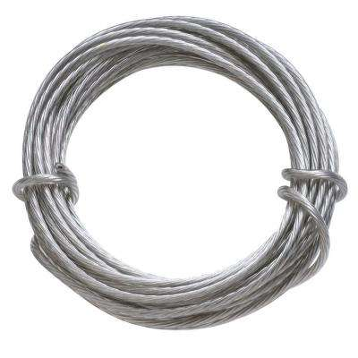50 lb. 9 ft. Gallery Wire Coated Stainless Steel