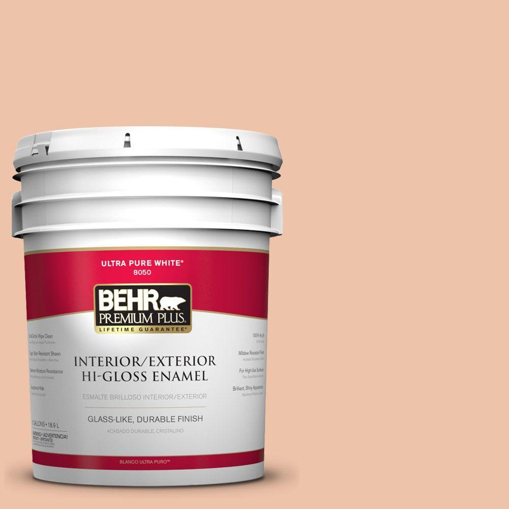 BEHR Premium Plus Home Decorators Collection 5-gal. #HDC-FL13-4 Pumpkin Mousse Hi-Gloss Enamel Interior/Exterior Paint