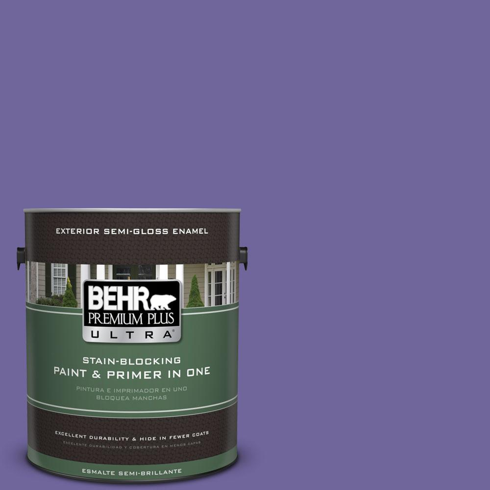 BEHR Premium Plus Ultra 1-gal. #630B-7 Pandora Semi-Gloss Enamel Exterior Paint