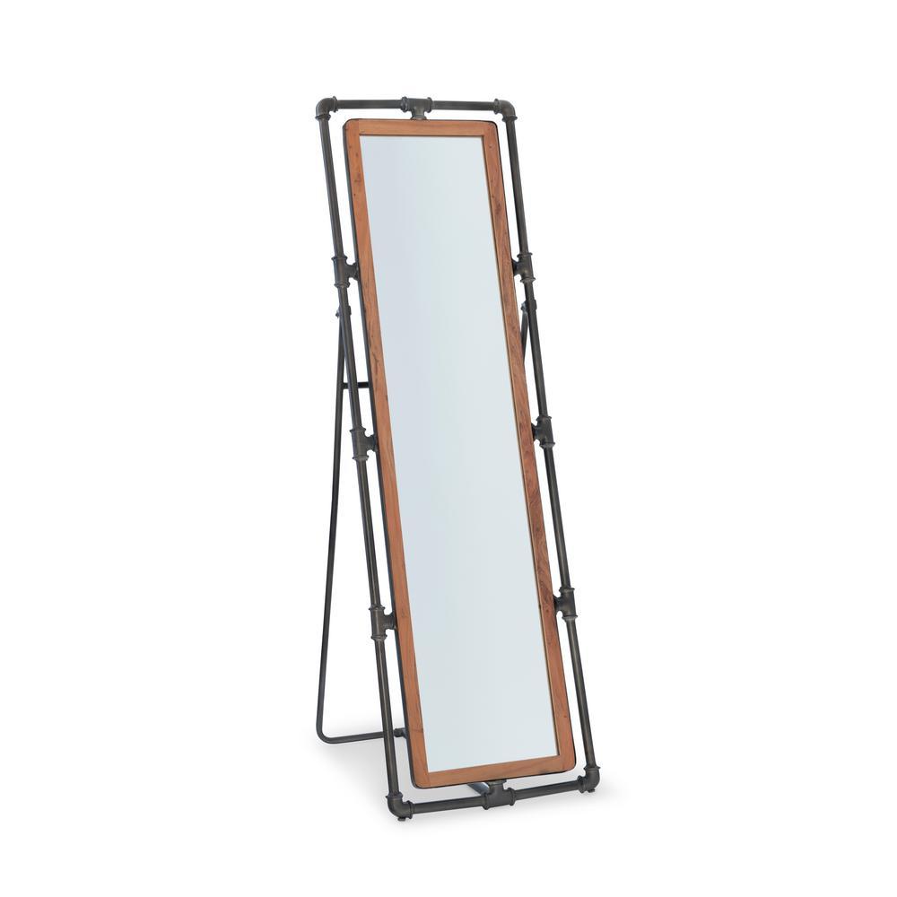 Denton Industrial Pipe Cheval Mirror