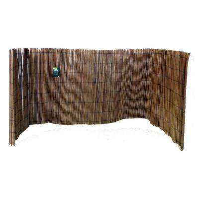 14 ft. L x 4 ft. H Willow Fence Screen