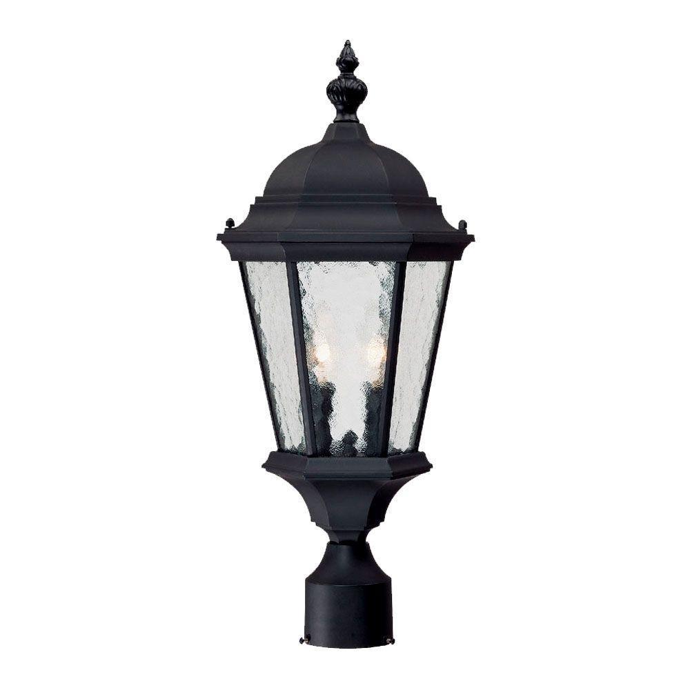 Acclaim Lighting Somerset 1 Light Matte Black Outdoor Post: Acclaim Lighting Telfair 2-Light Matte Black Outdoor Post
