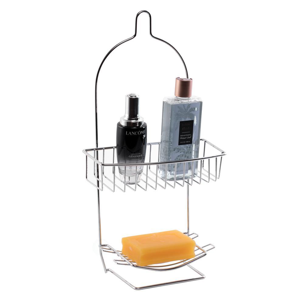 Metal Wire Hanging Bathroom Shower Storage Rack