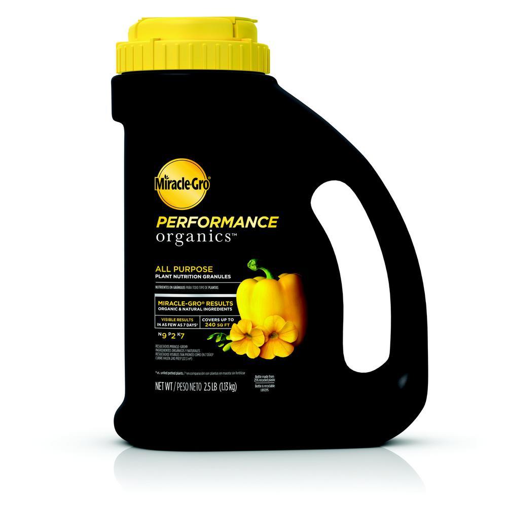 2.5 lbs. Miracle Gro Performance Organics All Purpose Plant Nutrition Granules