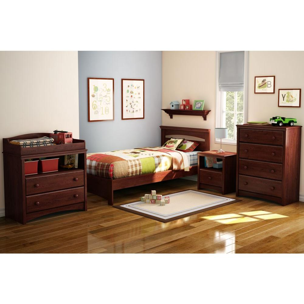 Attrayant South Shore Sweet Morning 1 Drawer Royal Cherry Nightstand