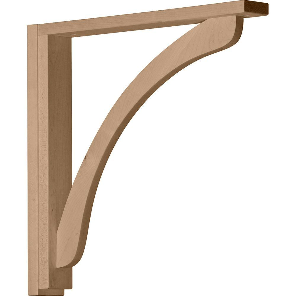 Ekena Millwork 2-1/2 in. x 17-3/4 in. x 17-1/4 in. Alder Reece Shelf Bracket