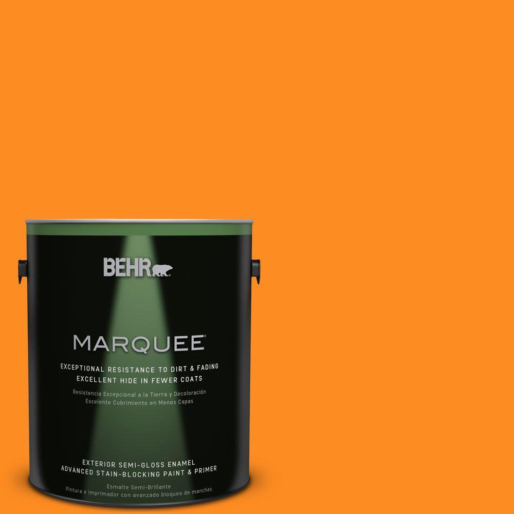 1-gal. #S-G-280 Mango Madness Semi-Gloss Enamel Exterior Paint