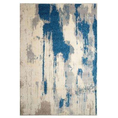 Alberto Off White/Blue 8 ft. x 10 ft. Indoor Area Rug
