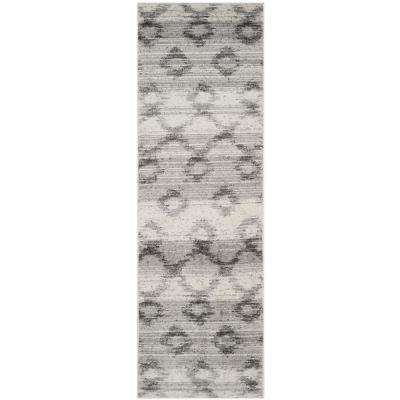 Adirondack Silver/Charcoal 3 ft. x 10 ft. Runner Rug