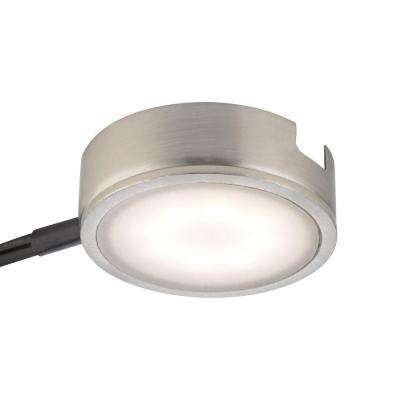 Tuxedo 1-Light LED Satin Nickel Under Cabinet Light with Power Cord and Plug