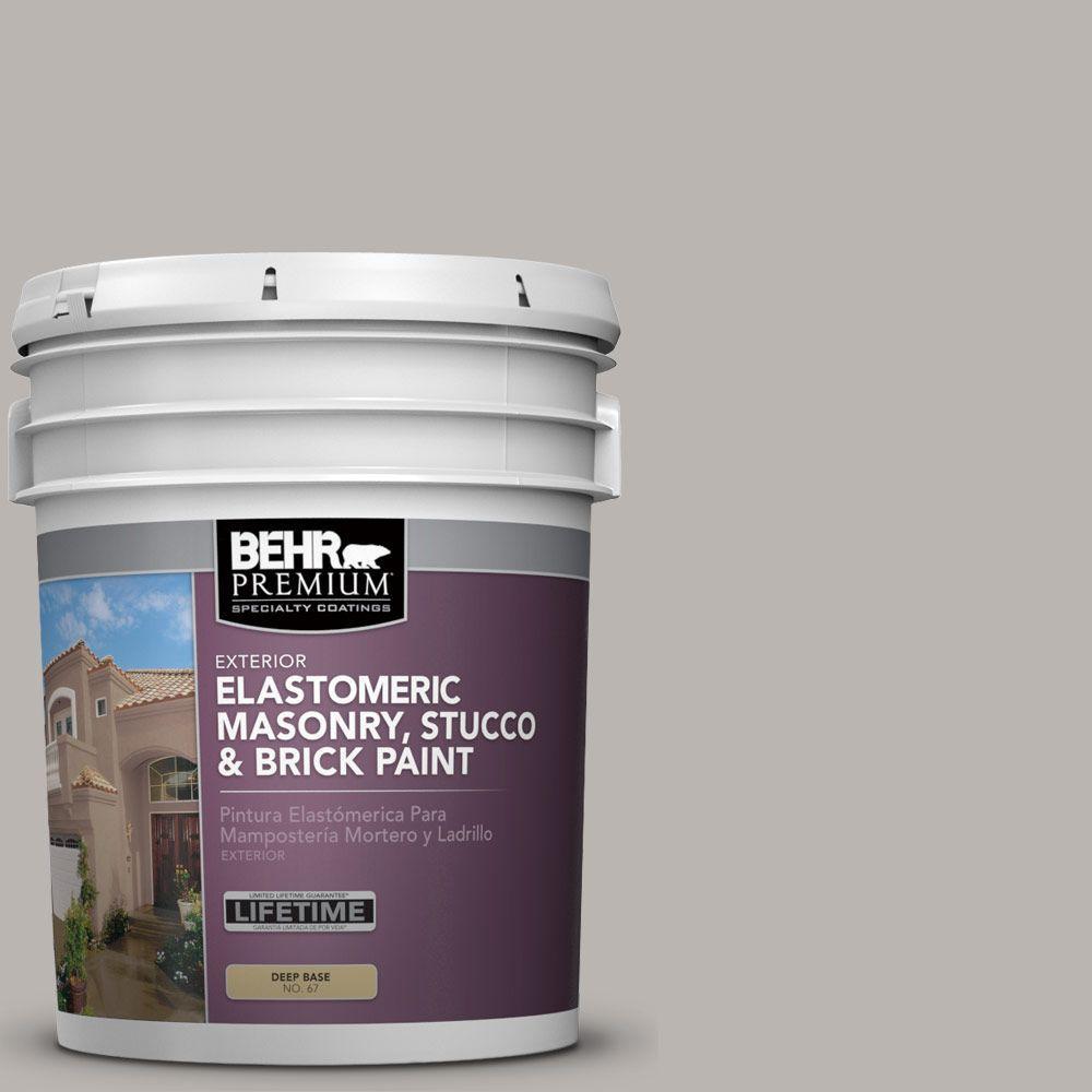 5 gal. #MS-84 French Gray Elastomeric Masonry, Stucco and Brick Exterior Paint