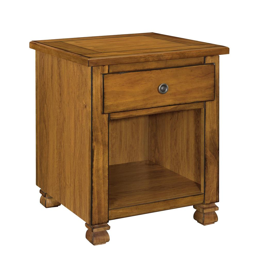 Ameriwood Kessel Tuscany Oak Storage End Table Hd12859