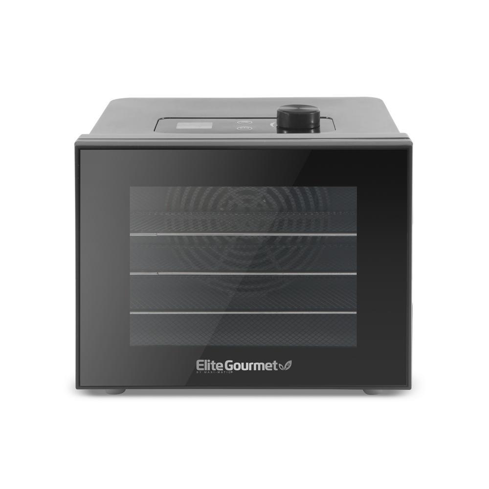 350W Digital Food Dehydrator with 4 Trays- Stainless Steel