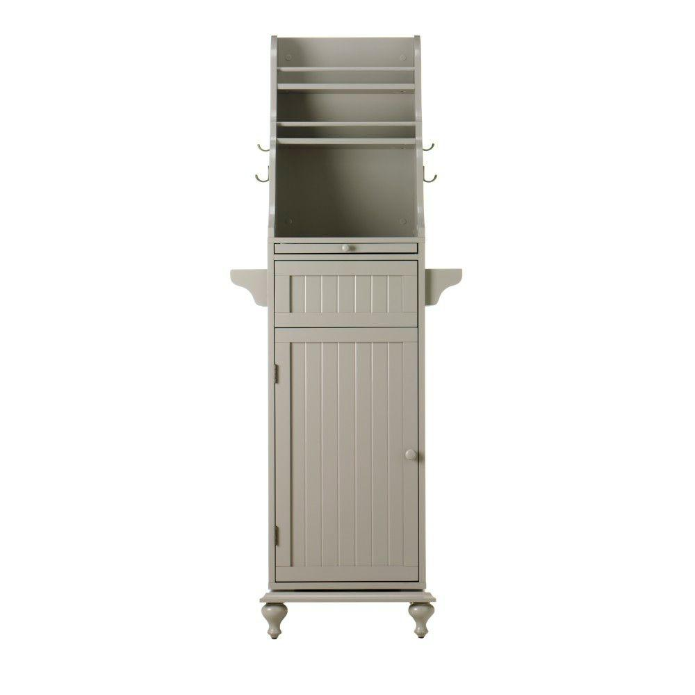 Home Decorators Collection Revolving 67.5 in. H Kitchen Storage Carousel in Grey