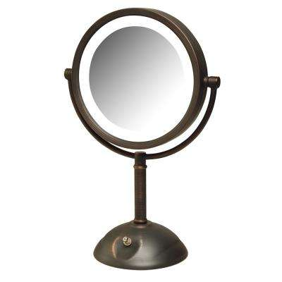 10 in. x 16 in. LED Lighted Table Mirror