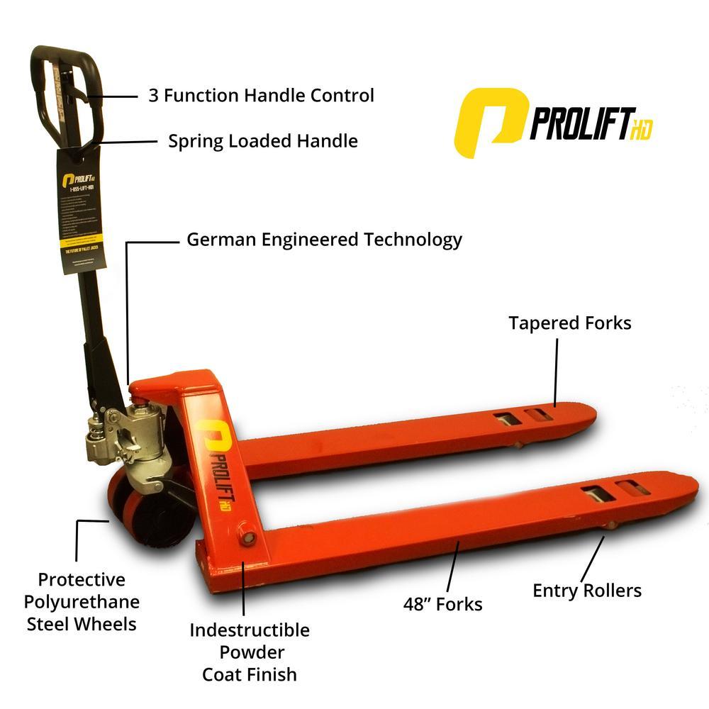 ProliftHD 5500 lbs. 27 inch x 48 inch New Pallet Jack Heavy-Duty Industrial Pallet Truck Stacker by
