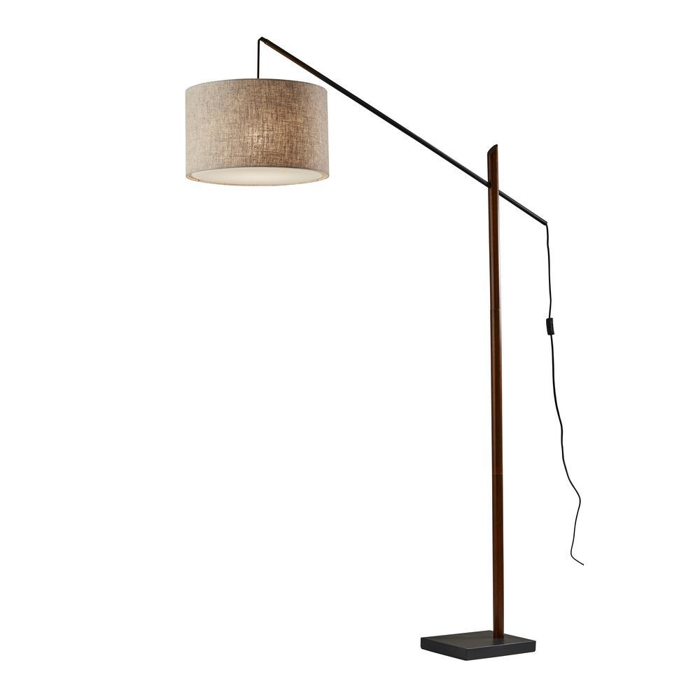 Ethan 76.5 in. Black Arc Lamp