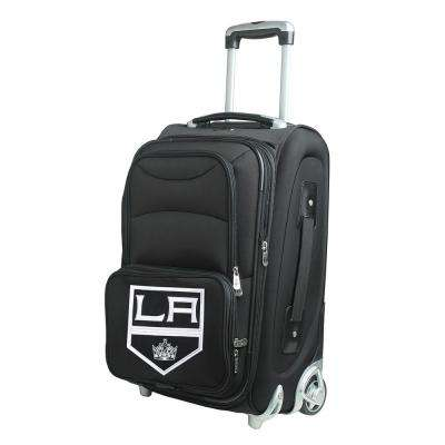NHL Los Angeles Kings 21 in. Black Carry-On Rolling Softside Suitcase