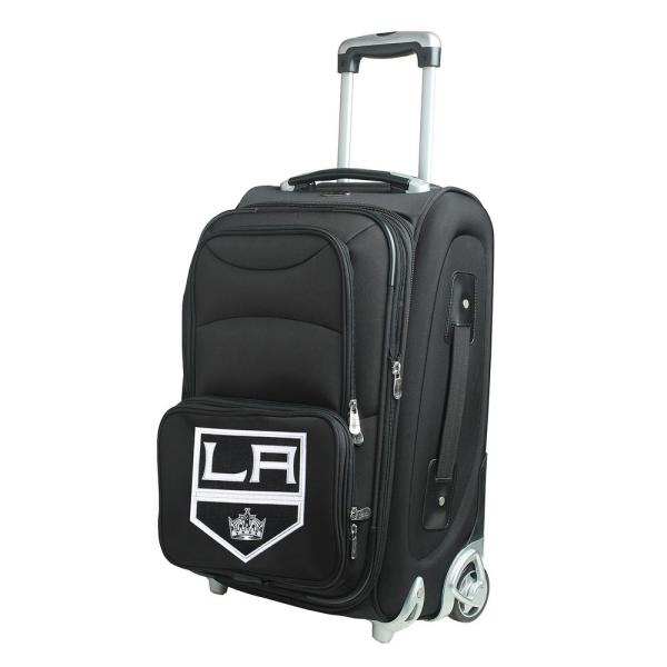 Denco NHL Los Angeles Kings 21 in. Black Carry-On Rolling Softside Suitcase