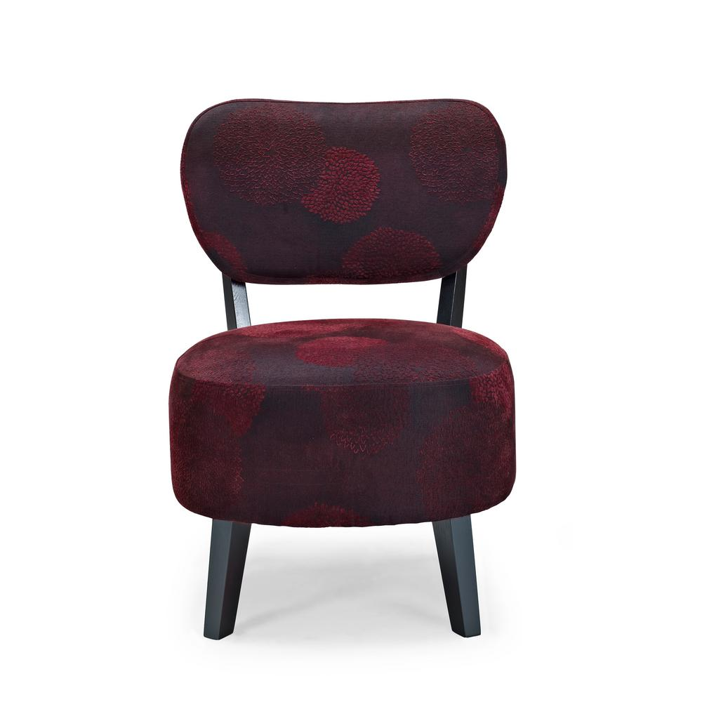 Sphere Red Sunflower Accent Chair