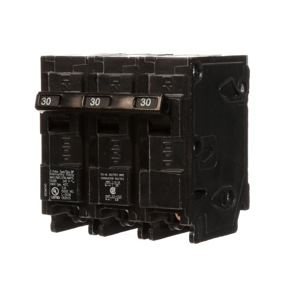 Siemens 30 Amp 3-Pole Type QP Circuit Breaker