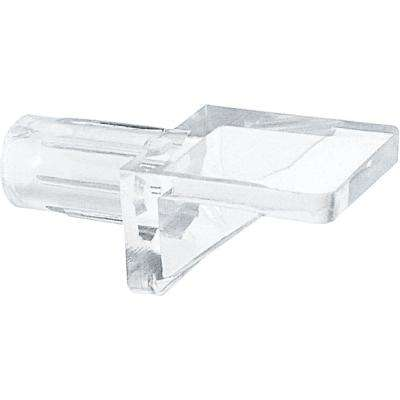 1/4 in. Clear Plastic Glass Shelf Peg (8-Pack)