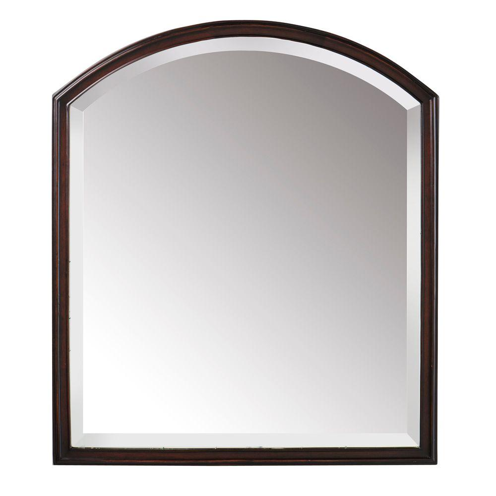 Home Decorators Collection Lynn 26 in. L x 21 in. W Iron Wall Mirror in Antique Brown