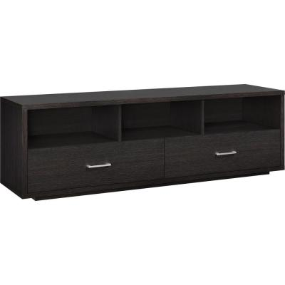 Sagecrest 60 in. Espresso Particle Board TV Stand with 3 Drawer Fits TVs Up to 70 in. with Cable Management