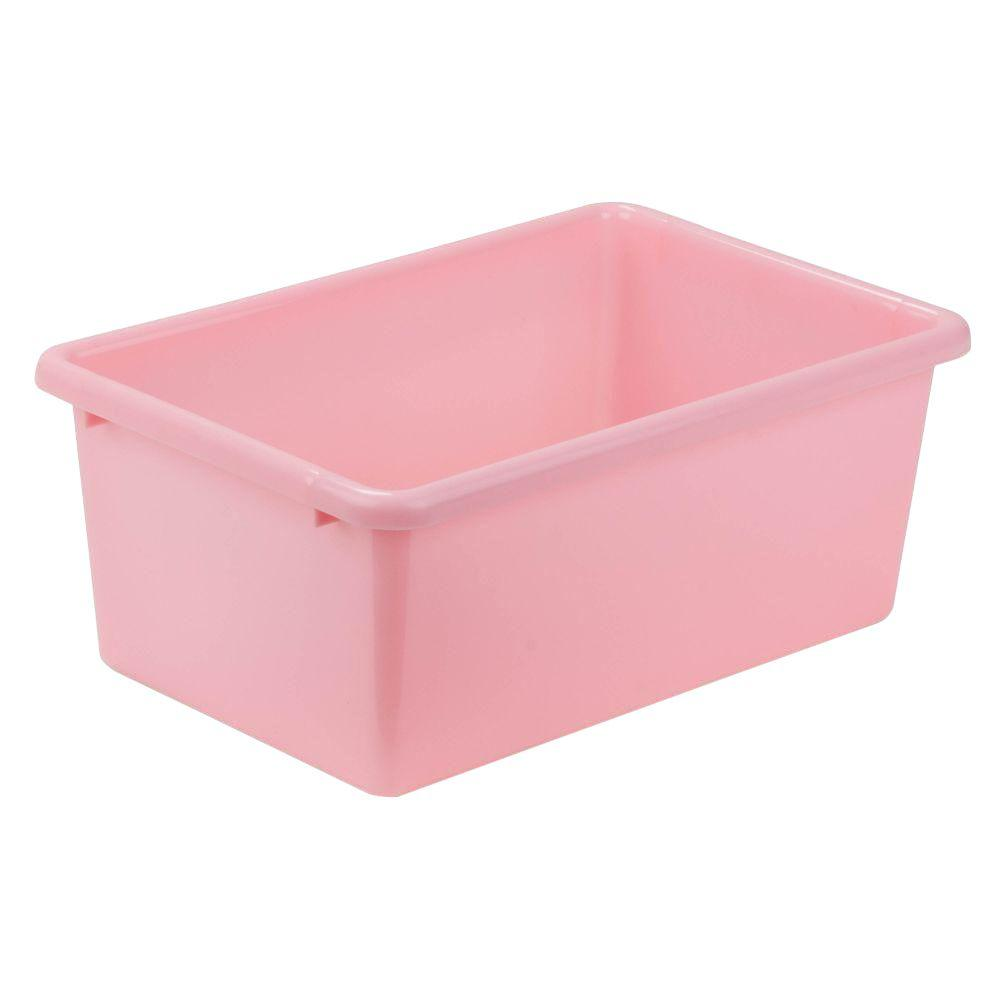 Incroyable Honey Can Do 7.9 Qt. Storage Bin In Light Pink