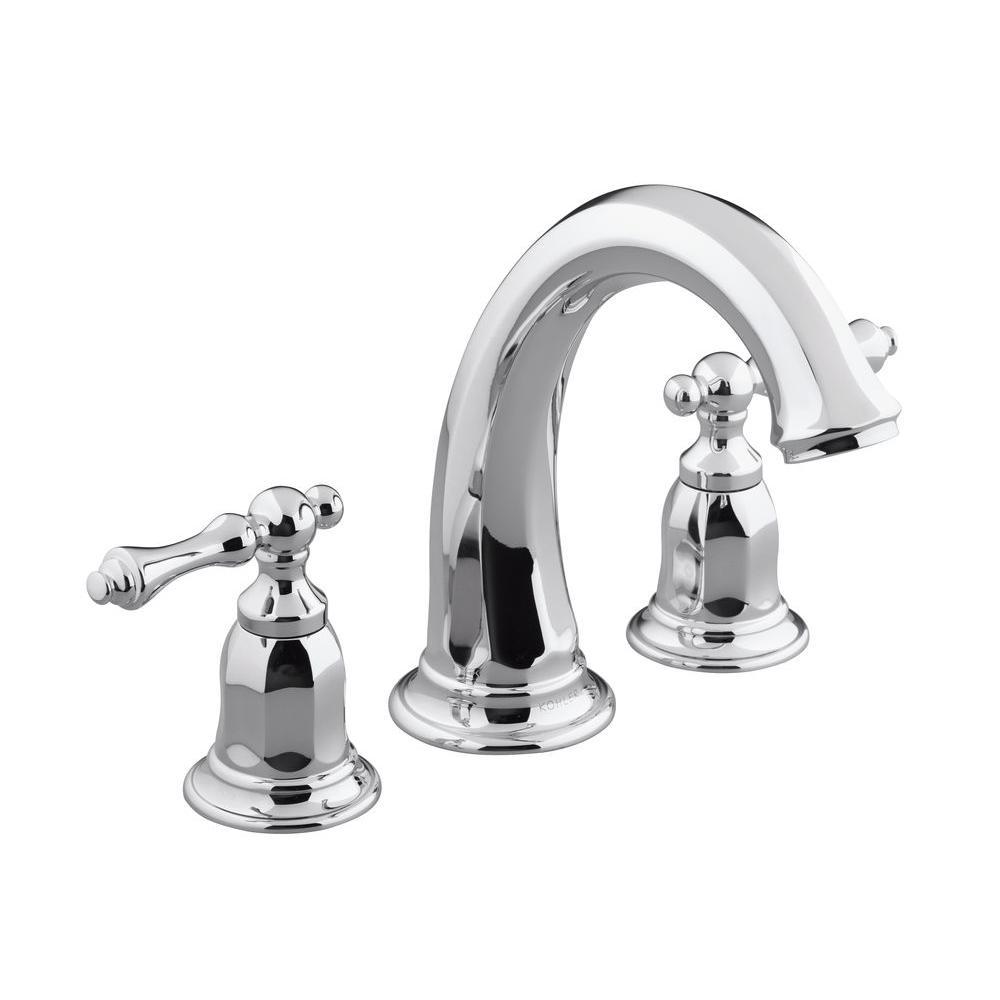 KOHLER Kelston 2-Handle Deck-Mount Bath Tub Faucet Trim in Polished ...