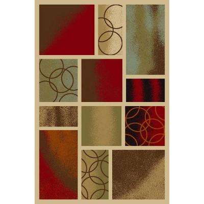 Hamam Collection Multi 1 ft. 6 in. x 2 ft. 7 in. Rubber Back Area Rug