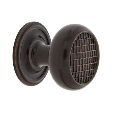 Craftsman 1-3/8 in. Timeless Bronze Brass Cabinet Knob with Classic Rose
