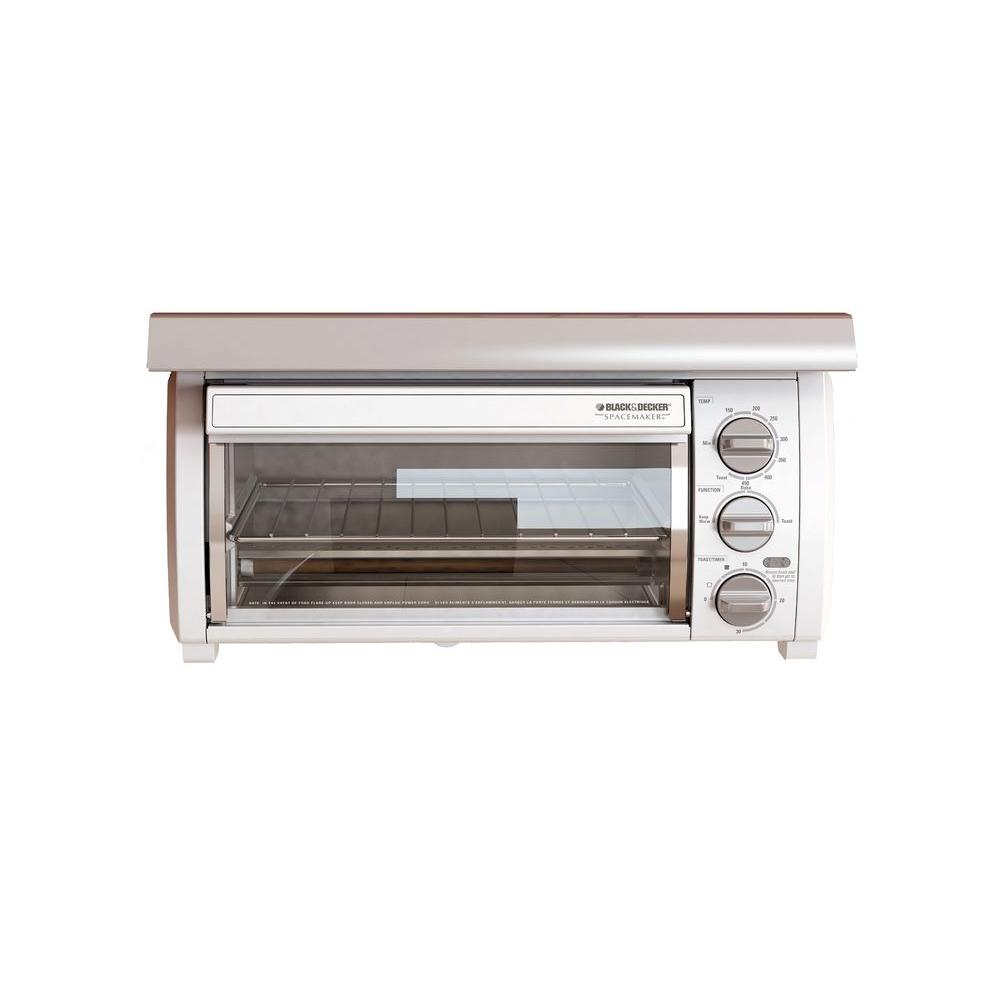 BLACK+DECKER SpaceMaker Toaster Oven, White-DISCONTINUED