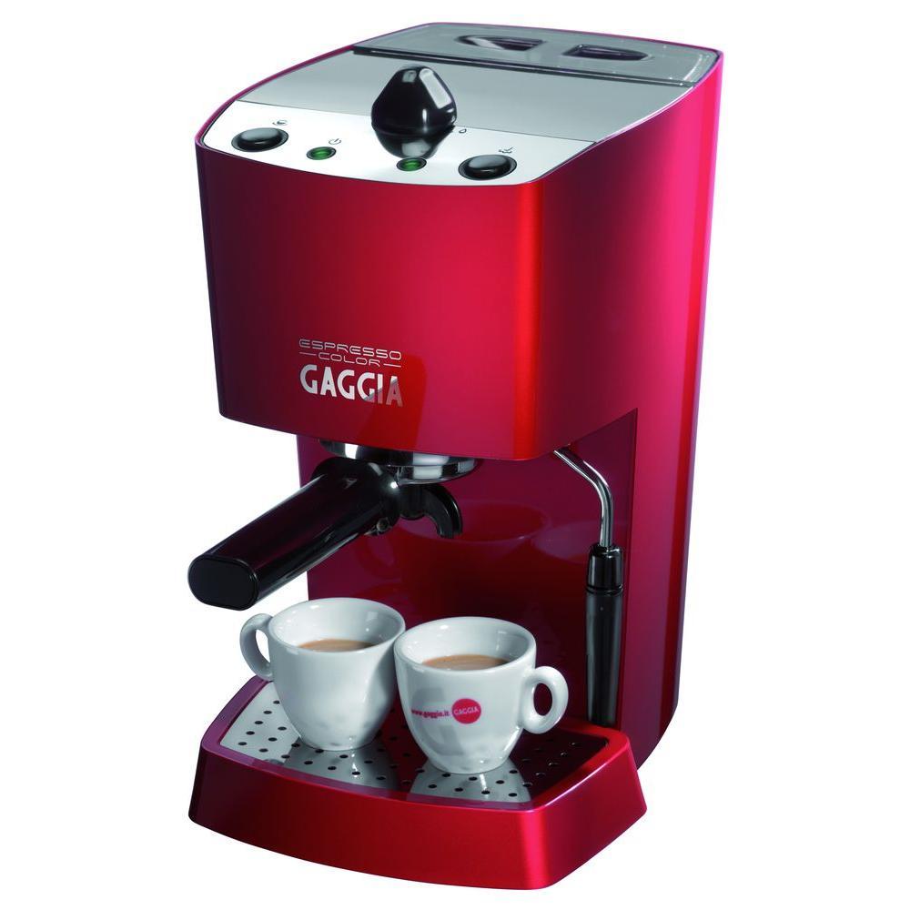 Gaggia 1100 Watts - 120 Volts Semi Automatic Espresso and Cappuccino Machine in Red