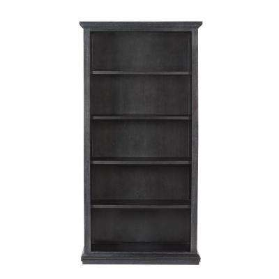 Aldridge Washed Black Open Bookcase