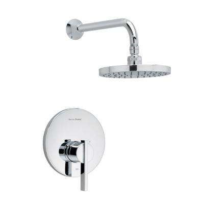 Berwick 1-Handle Shower Faucet Trim Kit Rain Showerhead in Polished Chrome (Valve Sold Separately)