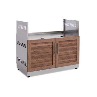 Natural Cherry Insert Grill 40 in. W x 36.5 in. H x 23 in. D Outdoor Kitchen Cabinet