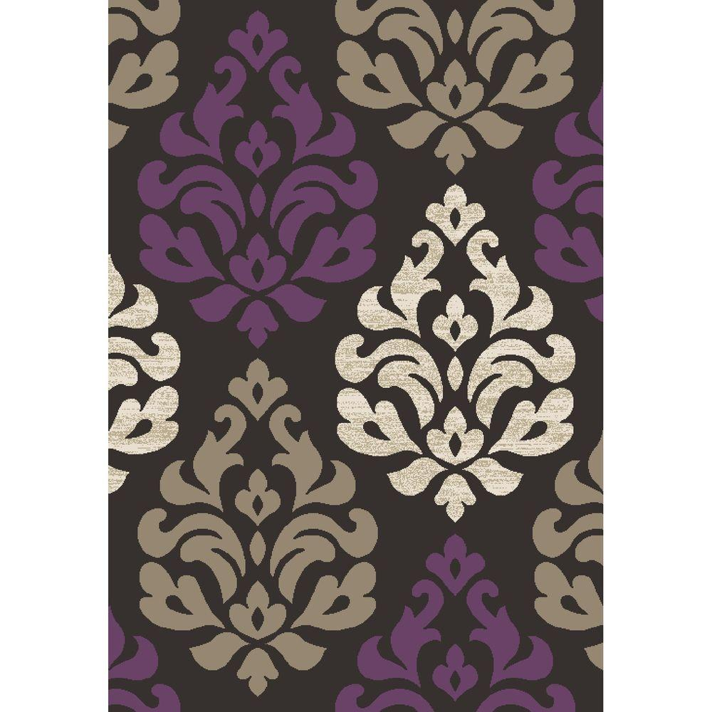 Casa Collection Victoria Amethyst (Purple) 5 ft. 3 in. x 7 ft. 3 in. Area Rug