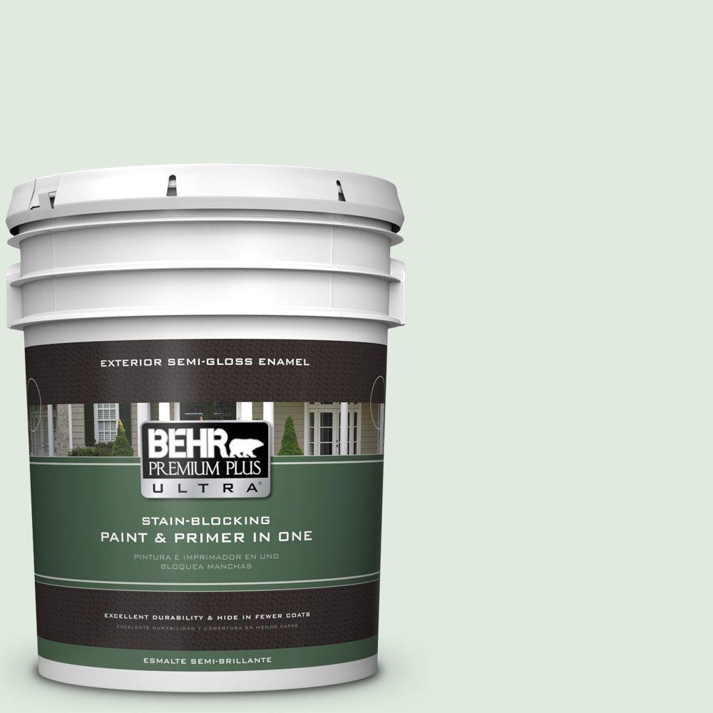 5-gal. #440E-1 Relaxing Green Semi-Gloss Enamel Exterior Paint