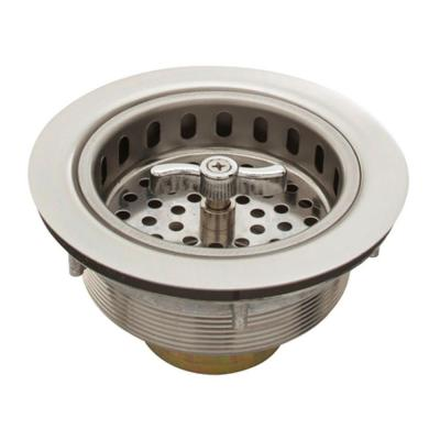 3.5 in. Spin-Lock Sink Strainer in Stainless Steel