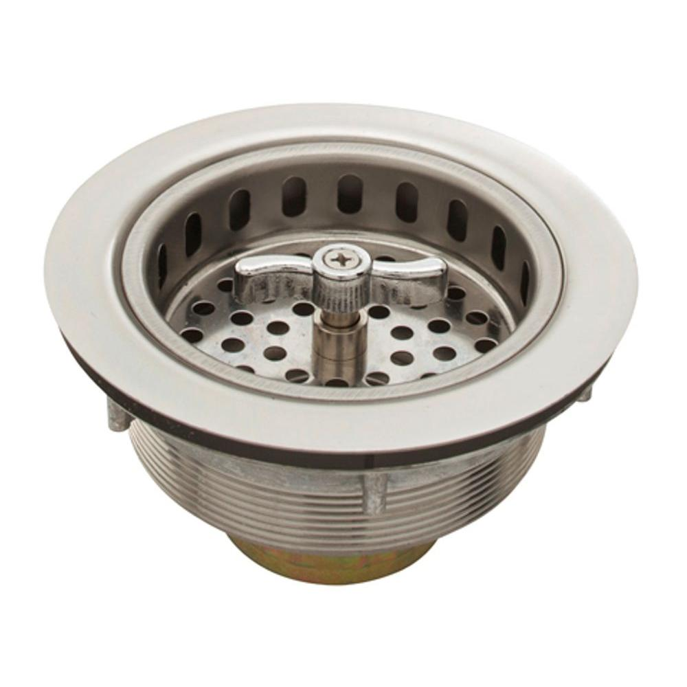 Belle Foret 3.5 In. Spin Lock Sink Strainer In Stainless Steel