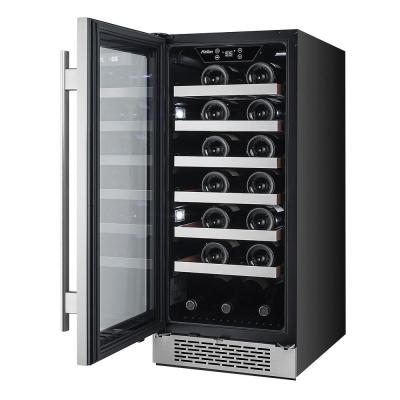 27-Bottle 15 in. Built-in Wine Cooler with Argon Filled Double Paned Glass - Left Hinge
