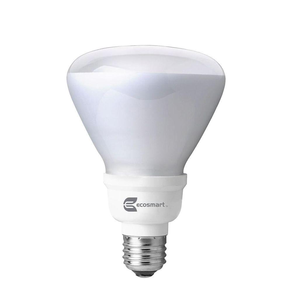 EcoSmart 65W Equivalent Bright White (3500K) R30 CFL Flood Light Bulb (4-Pack)