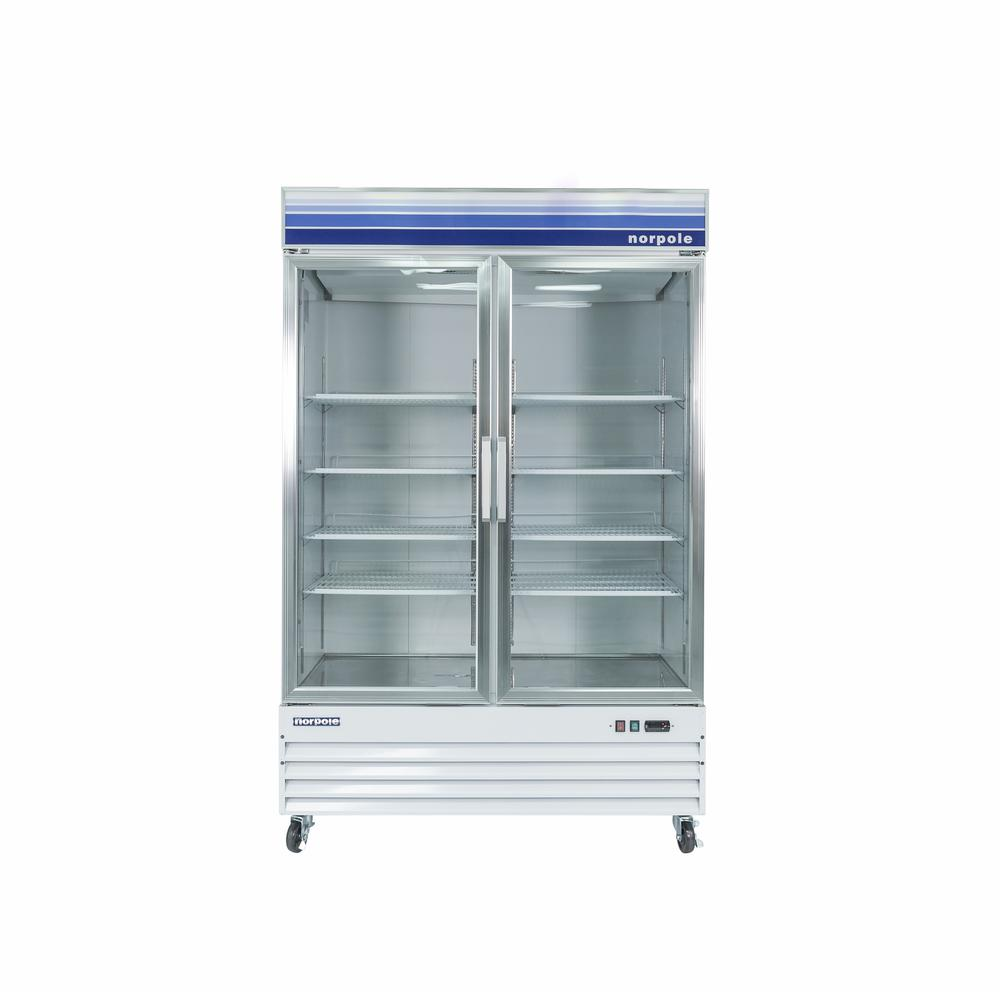 53 in. W 45 cu. ft. Merchandiser Glass Door Commercial Refrigerator