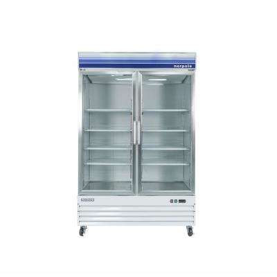 53 in. W 45 cu. ft. Merchandiser Glass Door Commercial Refrigerator in White