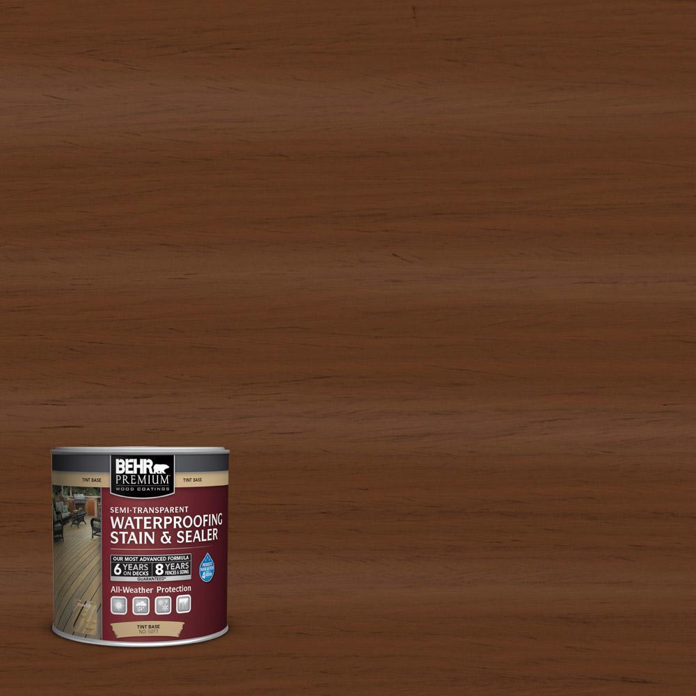 BEHR Premium 8 oz. #ST110 Chestnut Semi-Transparent Waterproofing Stain and Sealer Sample
