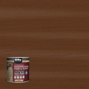 8 oz. #ST-110 Chestnut Semi-Transparent Waterproofing Exterior Wood Stain and Sealer Sample
